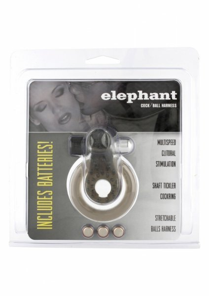 Pierścień-COCK&BALL RING ELEPHANT JELLY VIB