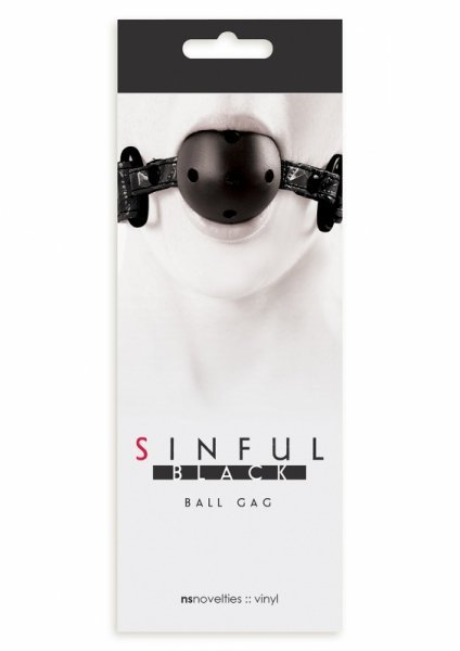 Knebel-SINFUL BALL GAG BLACK