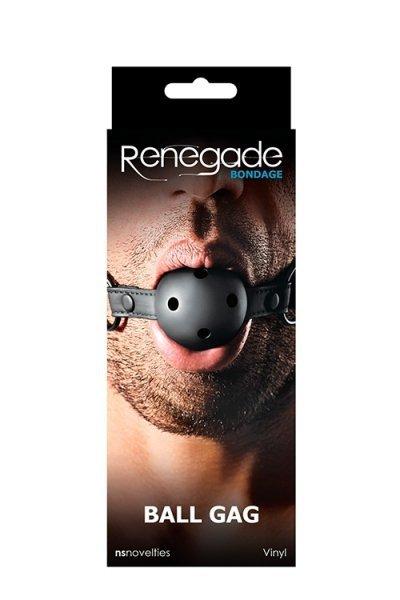 Knebel-RENEGADE BONDAGE BALL GAG BLACK