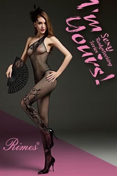 Bielizna-Rimes Bodystocking One Size No,7086 BLACK