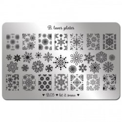 Stamping Schablone B.05 Let it Snow