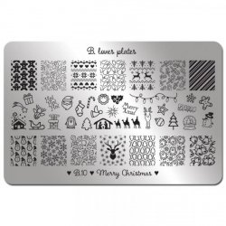 Stamping Schablone B.10 Merry Christmas