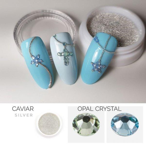 Opal Crystals SS4 BLAU 50st.