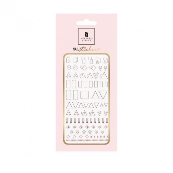 Nail Stickers STYLE 6 ROSE GOLD - Mistero Milano
