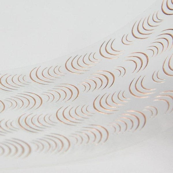 Nail Stickers Elastic Bow ROSE GOLD - Mistero Milano