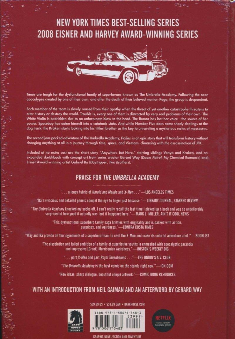 Oferta ekspozycyjna: UMBRELLA ACADEMY LIBRARY EDITION HC VOL 02 DALLAS
