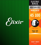 Struny do basu ELIXIR NanoWeb Nickel (45-100)