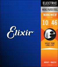 ELIXIR NanoWeb electric guitar strings (10-46) Light