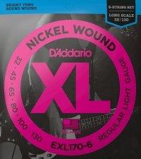 Struny D'ADDARIO XL Nickel EXL170-6 (32-130) 6str.