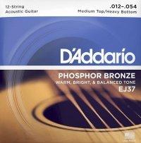 Struny D'ADDARIO Phosphor Bronze EJ37 (12-54)12str