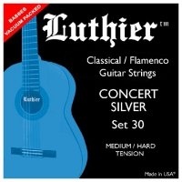 Struny LUTHIER 30 Concert White Silver Medium/Hard