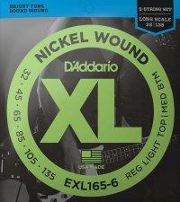 Struny D'ADDARIO Nickel EXL165-6 (32-135) 6str.