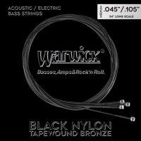 Struny WARWICK Black Nylon Tapewound LOS (45-105)