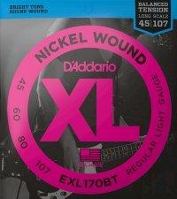 Struny D'ADDARIO XL Nickel Wound EXL170BT (45-107)