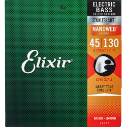 Struny do basu 5str ELIXIR StainlessSteel (45-130)