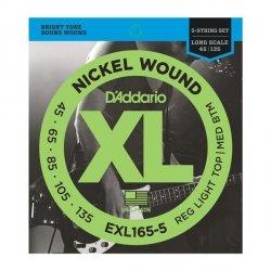 Struny D'ADDARIO XL Nickel EXL165-5 (45-135) 5str.