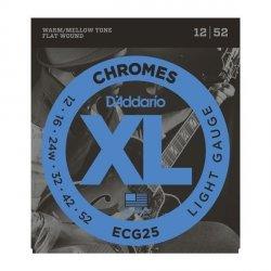 Struny D'ADDARIO Chromes Flat Wound ECG25 (12-52)