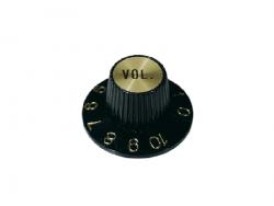 Gałka wciskana, calowa typu Hat (GD, volume)