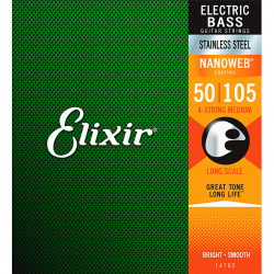 Struny do basu ELIXIR Stainless Steel (50-105)