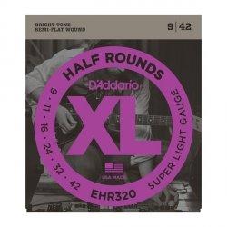 Struny D'ADDARIO Half Rounds EHR320 (9-42)