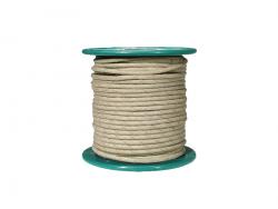 Kabel vintage w bawełninaym oplocie (WH)