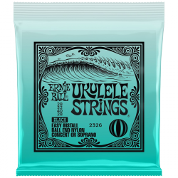 Struny do ukulele ERNIE BALL EB 2326 Black (kulka)