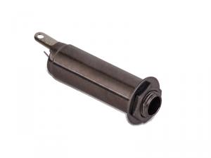 Cylindryczne gniazdo jack stereo MEC 50113 (BK)