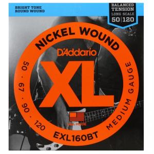 Struny D'ADDARIO XL Nickel Wound EXL160BT (50-120)
