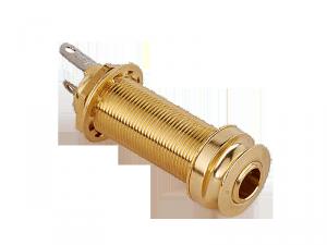 Cylindryczne gniazdo jack stereo MEC 50101 (GD)