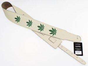Pasek skórzany RALI Embroidery 07 016 (kremowy)