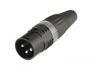 Złącze XLR 3 piny HICON HI-X3CM-BLK (męskie)