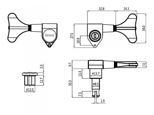 Klucze do basu GROVER 144 Mini (CR,4L)