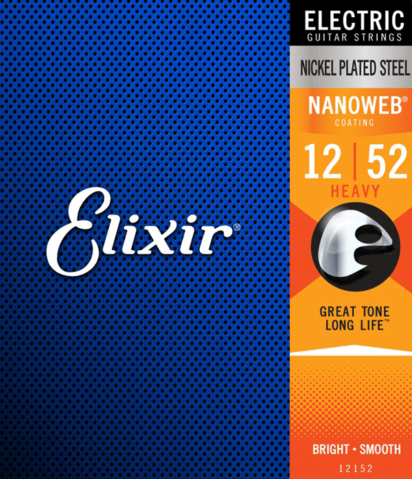 Struny ELIXIR NanoWeb Nickel Plated (12-52)