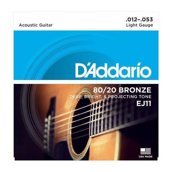 Struny D'ADDARIO 80/20 Bronze Wound EJ11 (12-53)