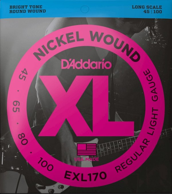 Struny D'ADDARIO XL Nickel Wound EXL170 (45-100)