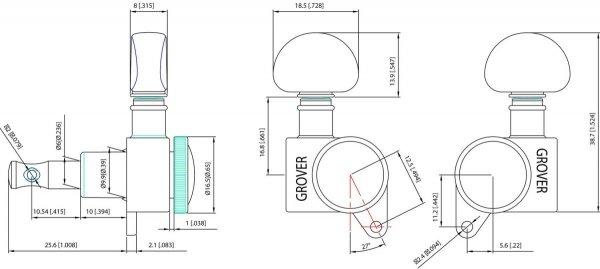Klucze blokowane GROVER Roto-Grip 505 (BC,6R)