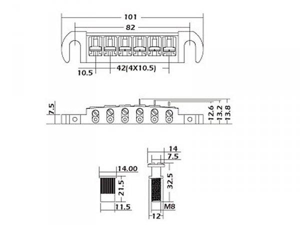 Mostek wraparound VPARTS WB-02 (GD)