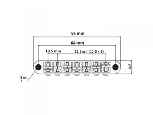 Mostek tune-o-matic 7str TONEPROS TP7 6,3mm (GD)