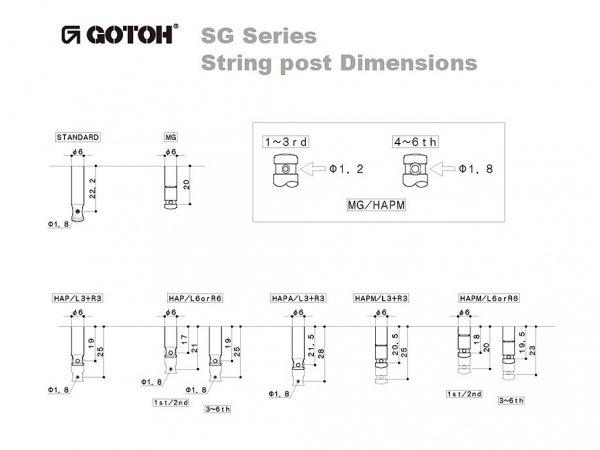 Klucze blokowane GOTOH SG381-01 MG (GD,3+3)