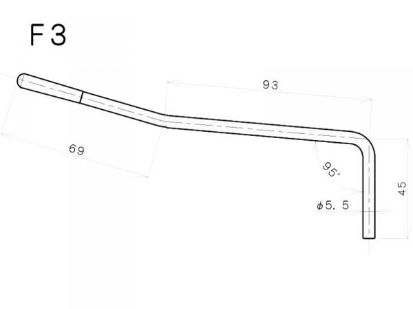 Ramię do mostków tremolo GOTOH F-3 (CR)