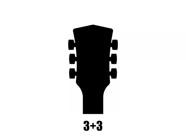 Klucze do gitary GROVER Rotomatics 102 (BN,3+3)