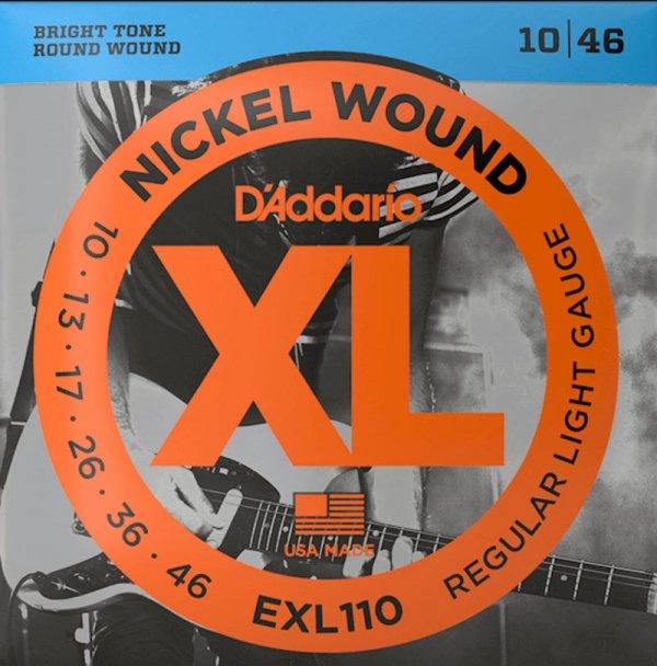 Struny D'ADDARIO XL Nickel Wound EXL110 (10-46)