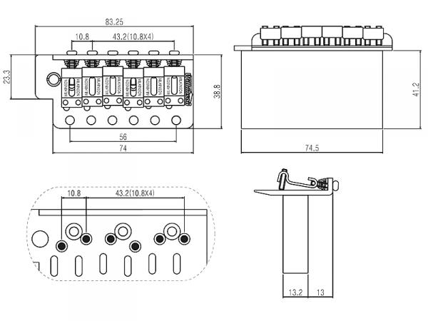 Tremolo WILKINSON WVC-SB (GD)