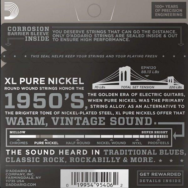 Struny D'ADDARIO XL Pure Nickel EPN120 (9-41)