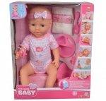 Simba New Born Baby Lalka Funkcyjna 43 cm