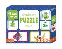 Zielona Sowa Dwustronne puzzle Owoce