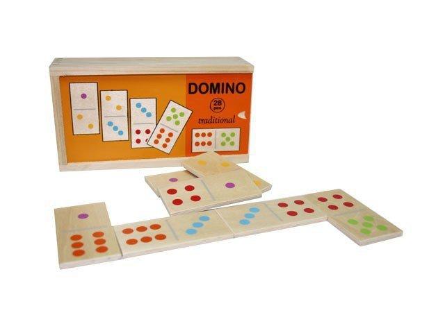Brimarex Drewniane Domino tradycyjne 28 klocków