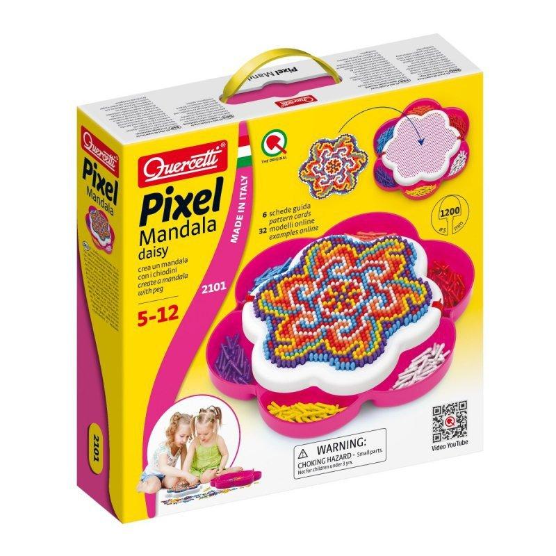 Quercetti Mozaika Pixel Mandala Daisy 1200 elementów