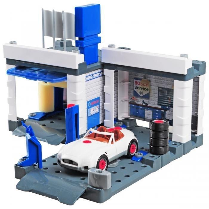 Klein Stacja obsługi Bosch z myjnią i samochodem