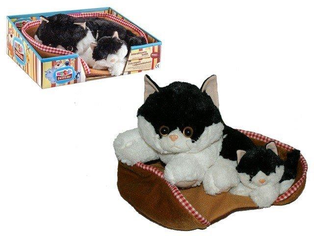 Madej Kot z głosem 34 cm czarny